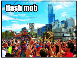 Flash Mob in Melbourne